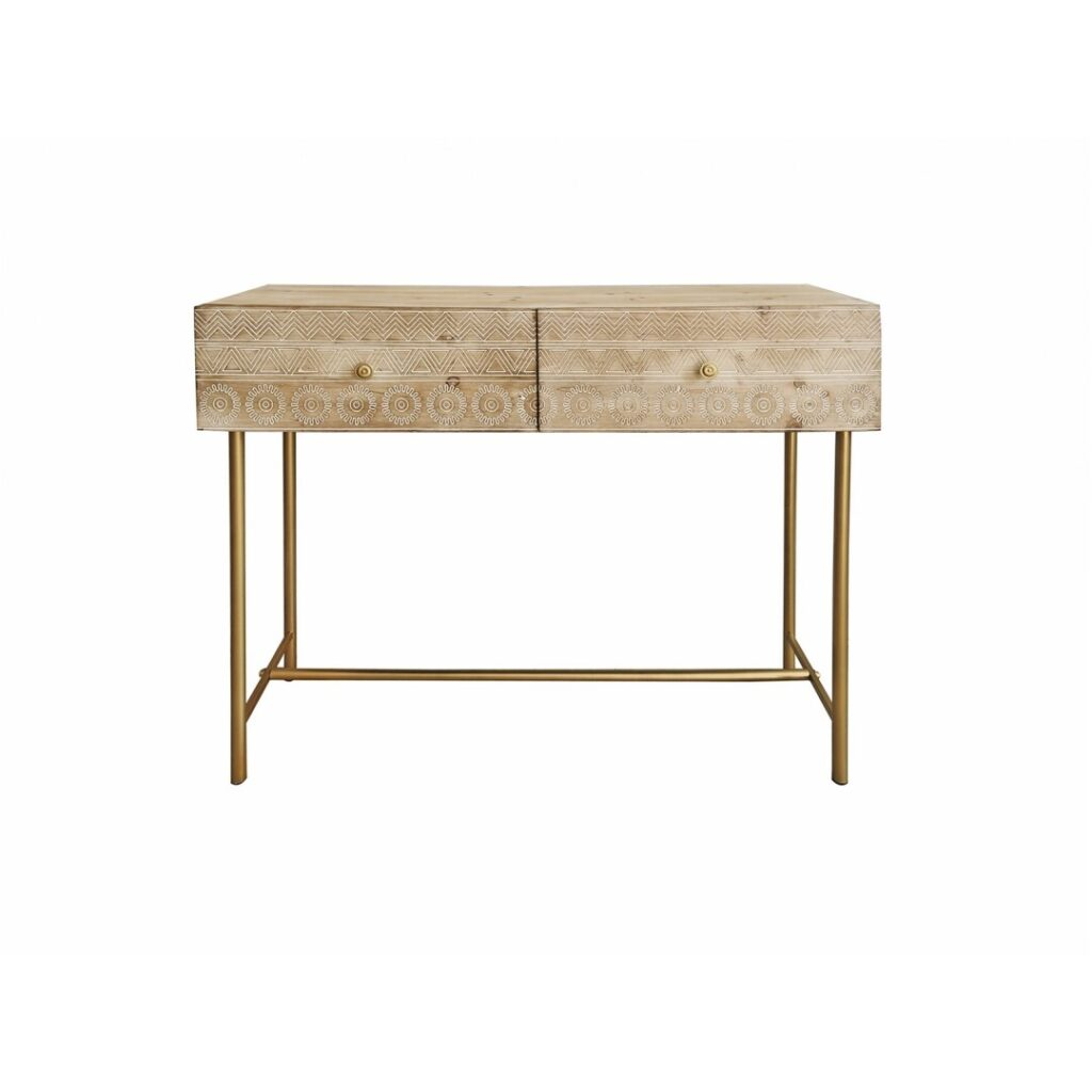Mueble recibidor 2 cajones tallado diseño actual