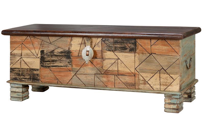 Arcon madera maciza decoracion colores desgastados