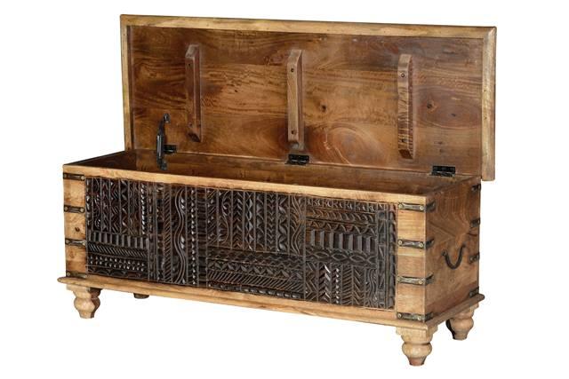 Baul madera rustico oriental chino