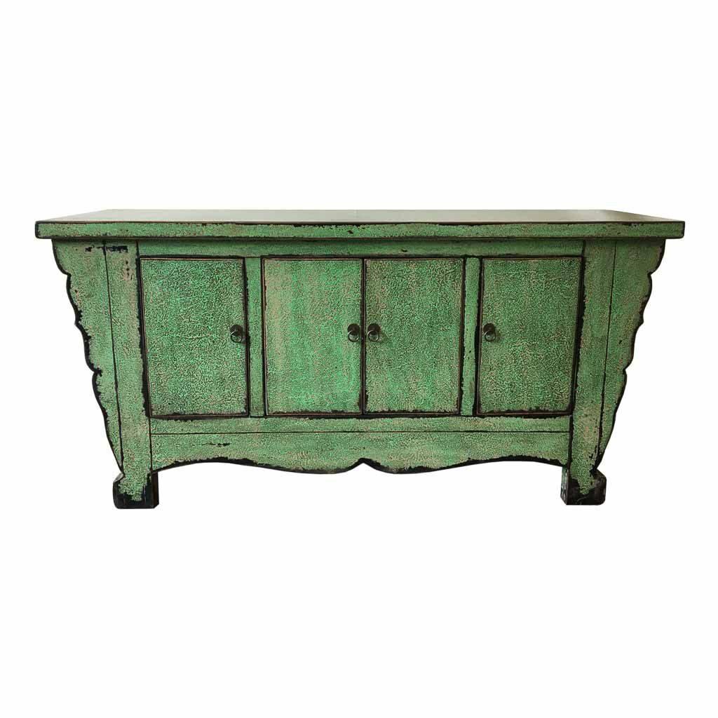 Buffet oriental verde vintage