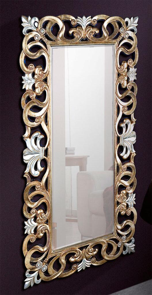Espejo labrado clasico oro blanco