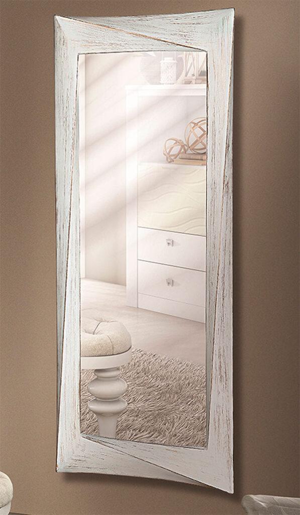 Espejo vestidor blanco oro