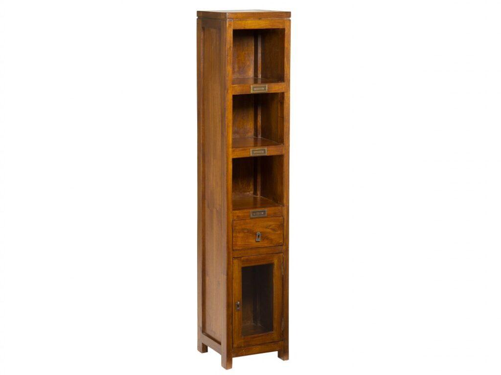 Librero estantes colonial estrecho