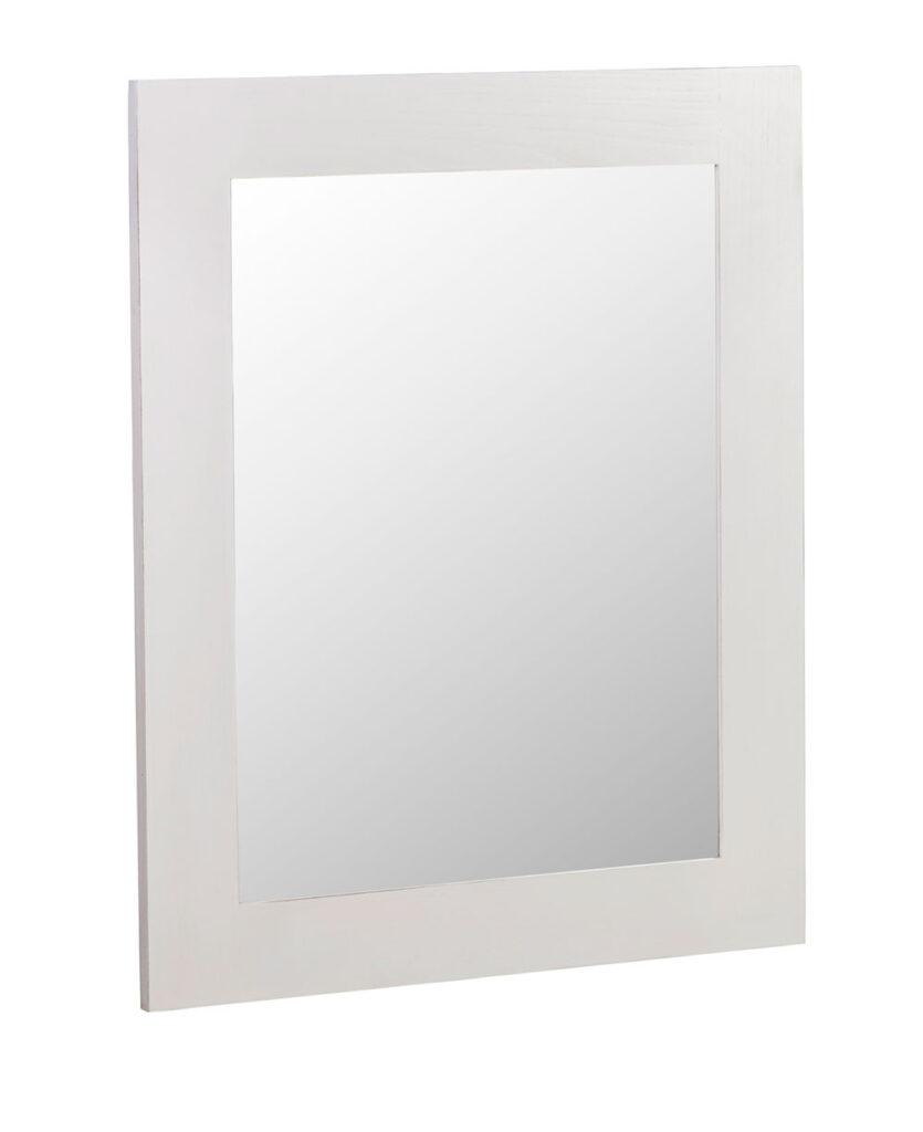 Espejo dormitorio colonial en blanco