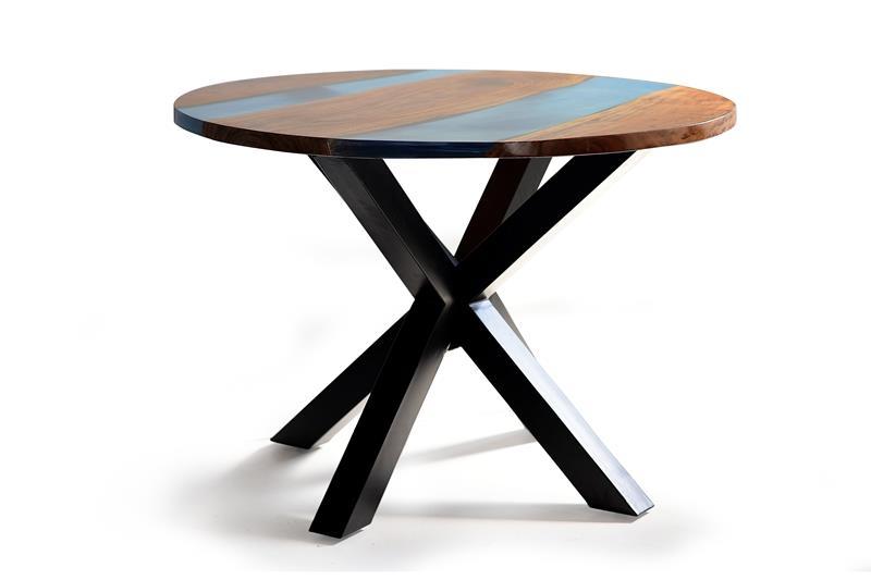 Mesa comedor redonda resina de color