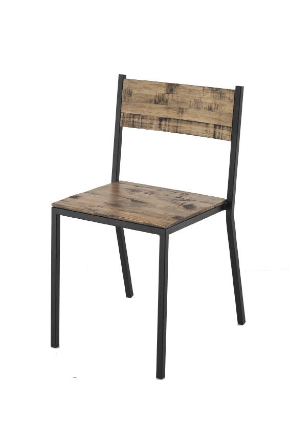 Silla basica forja madera
