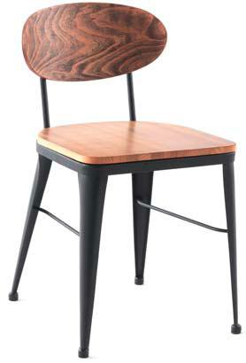 Silla forja y madera vintage
