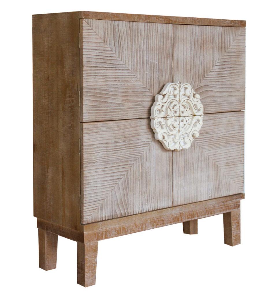 Mueble aparador rustico decape blanco