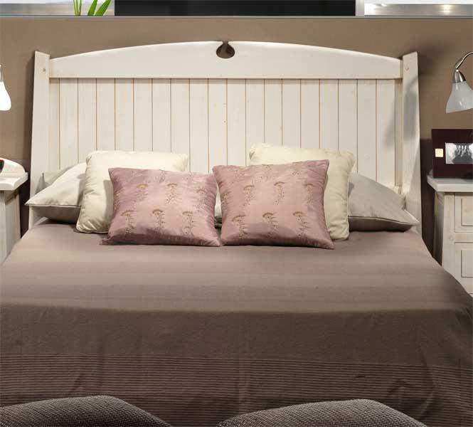 Cabecero dormitorio blanco rustico