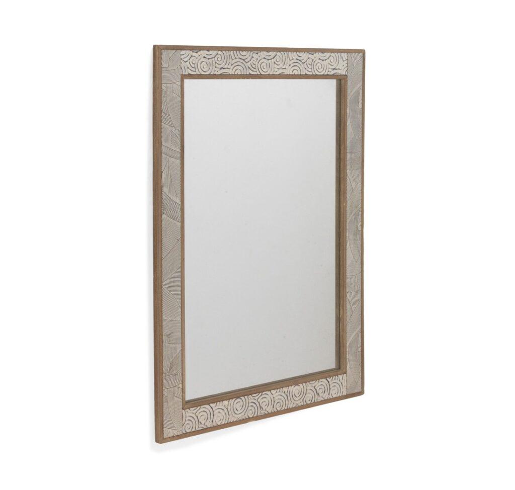 Espejo tallado color blanco decape