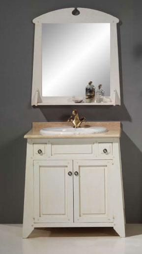 Mueble lavabo rustico Lagar blanco