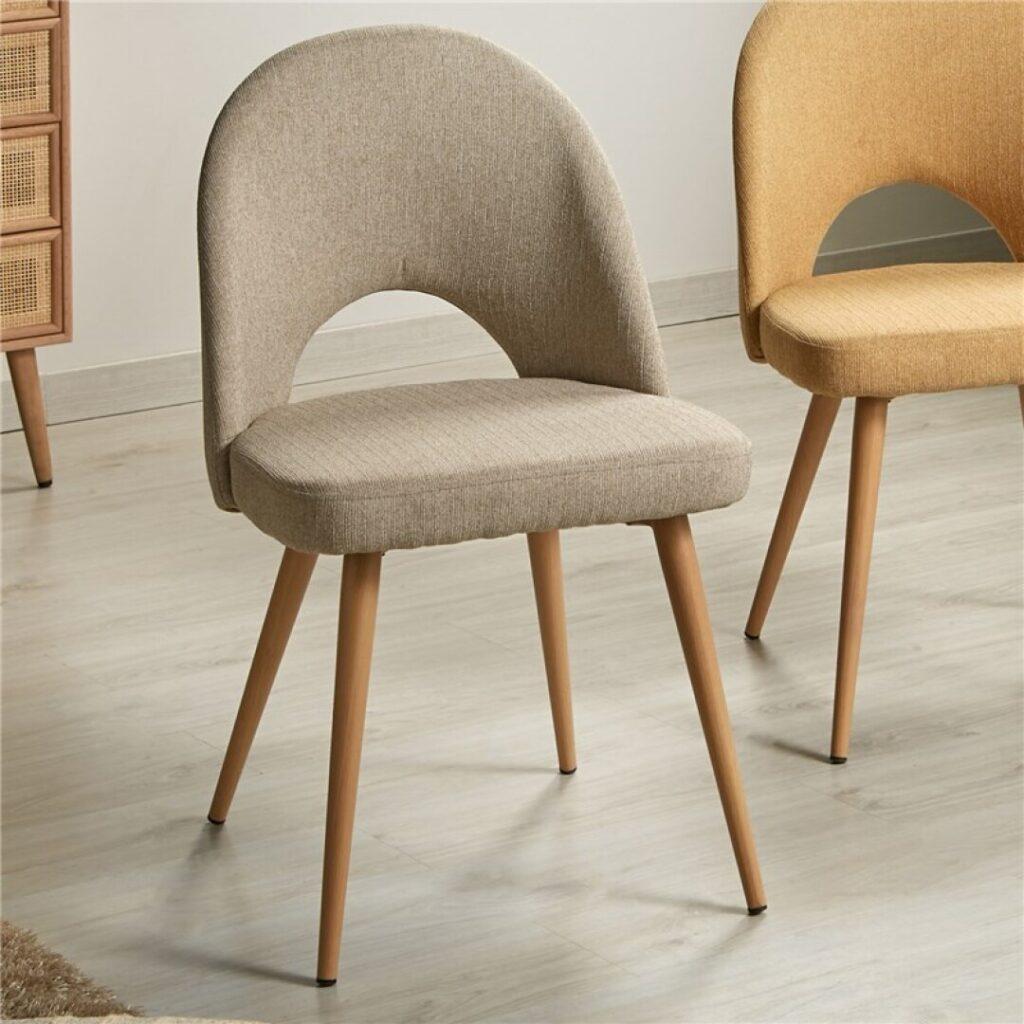 silla comedo tapizada actual