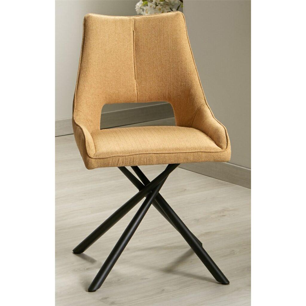 silla comedor tapizada patas metal
